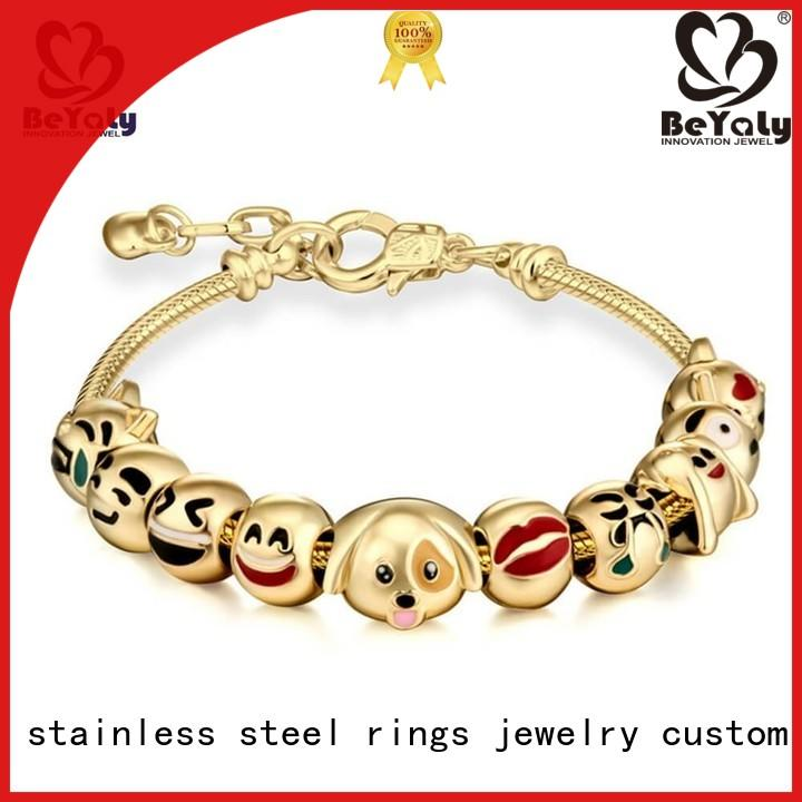 zirconia initial bracelets silver engraved BEYALY company