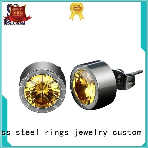 BEYALY rhodium cubic zirconia earrings promotion for advertising promotion
