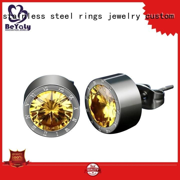 mini diamond hoop earrings zircon letters earrings BEYALY Brand company