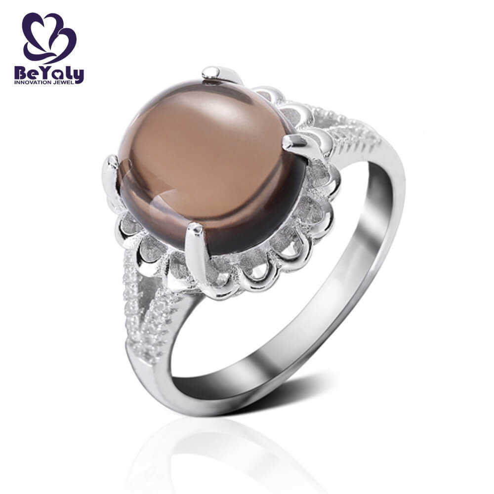 BEYALY steel sterling silver ring Supply for women-2