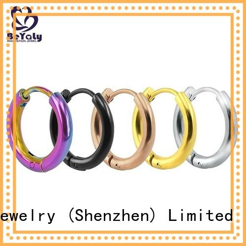 BEYALY Best small silver hoop earrings factory for business gift