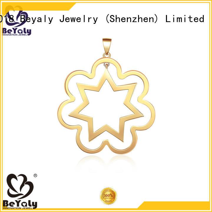 metal pendant blanks stainless diamond sterling silver bezel pendant blanks BEYALY Brand