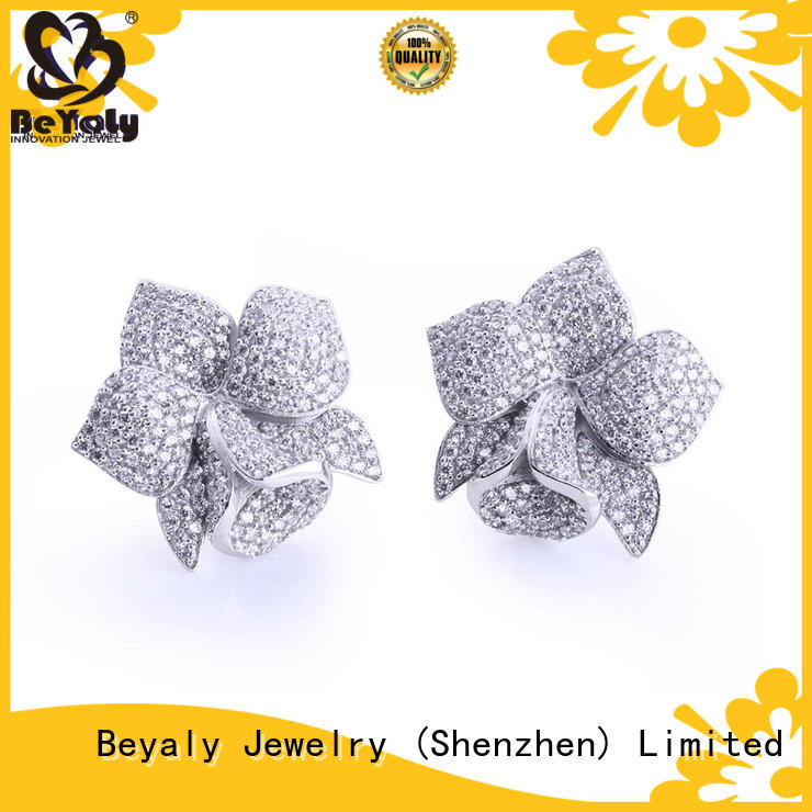 classic cubic zirconia earrings hook for anniversary celebration