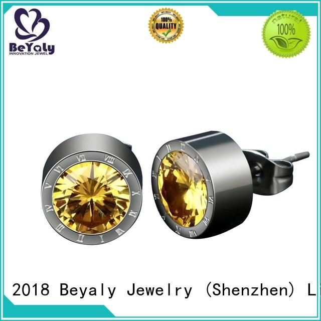cubic zirconia stud earrings stud for advertising promotion BEYALY