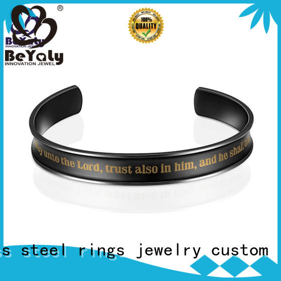 BEYALY fashion bangles and bracelets engraved for ceremony