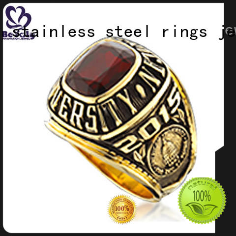 BEYALY good quality high school graduation rings stone for graduated