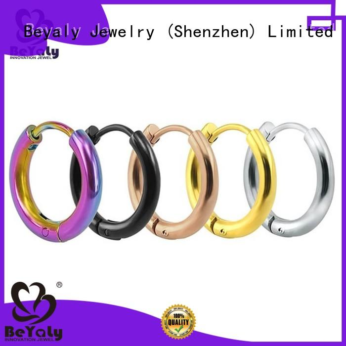 BEYALY unique small silver hoop earrings for business for women