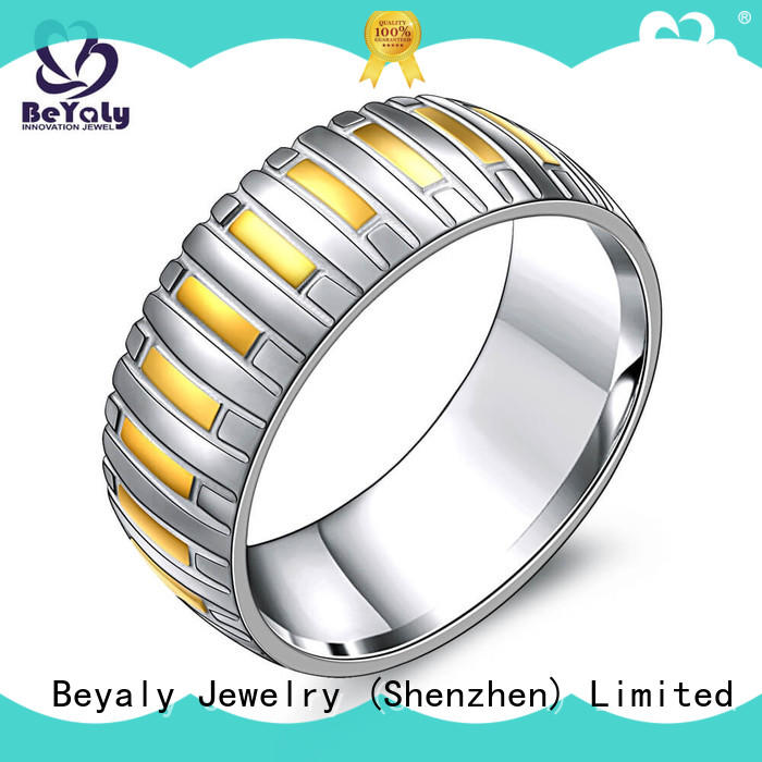 BEYALY diamond gold inital ring factory for wedding