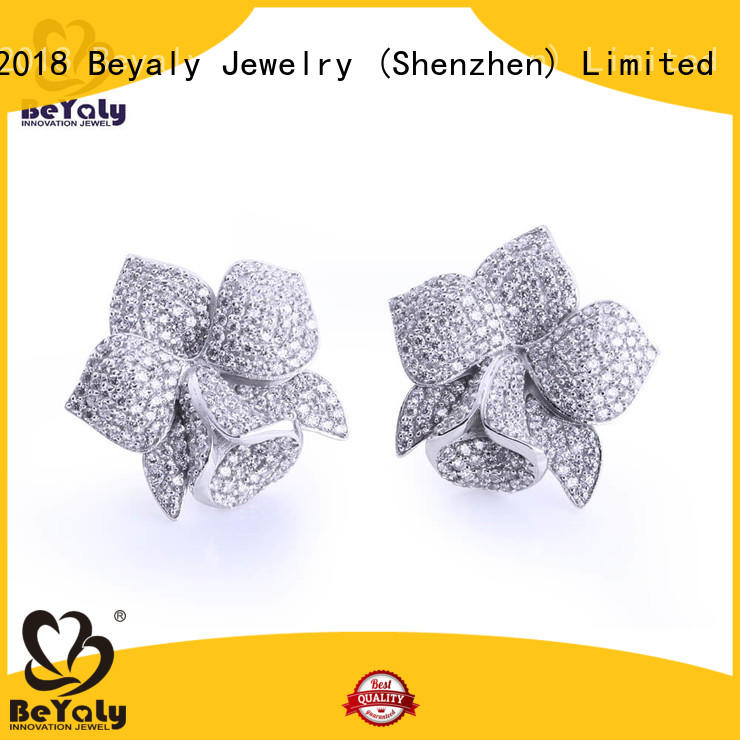 plated zircon earring sets for advertising promotion BEYALY