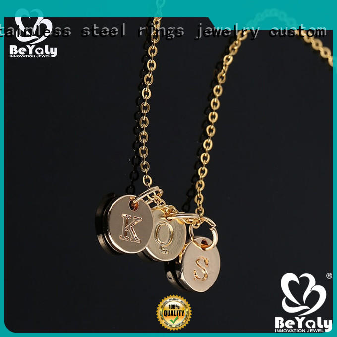 BEYALY stylish dog tag necklace for business