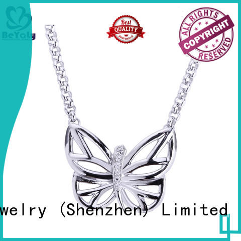 BEYALY stylish silver pendant necklace on sale for girls