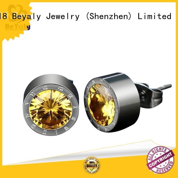 pave jewelry hoop BEYALY Brand small diamond hoop earrings supplier
