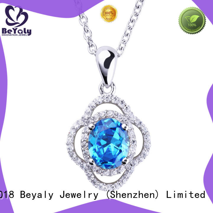 flower dog tag necklace sets for ladies BEYALY