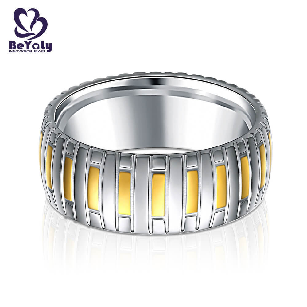 BEYALY diamond gold inital ring factory for wedding-1