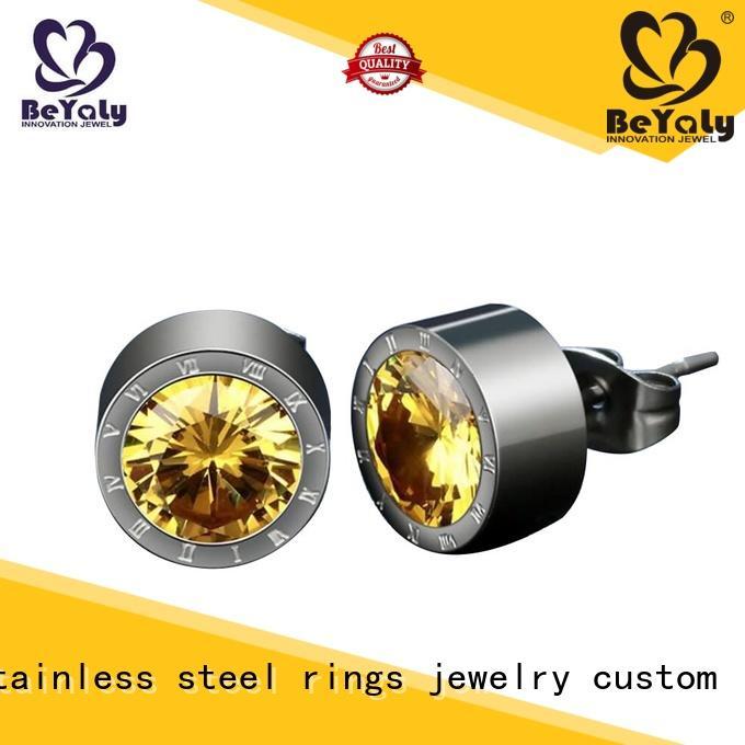 BEYALY women cubic zirconia stud earrings Supply for women
