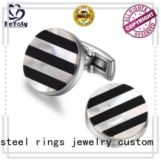 BEYALY classic silver square cufflinks square for ceremony for advertising promotion