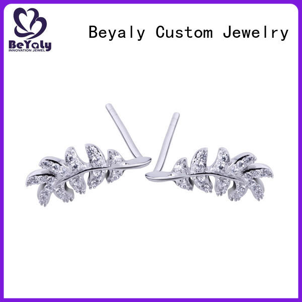 BEYALY plated small silver hoop earrings for business for women