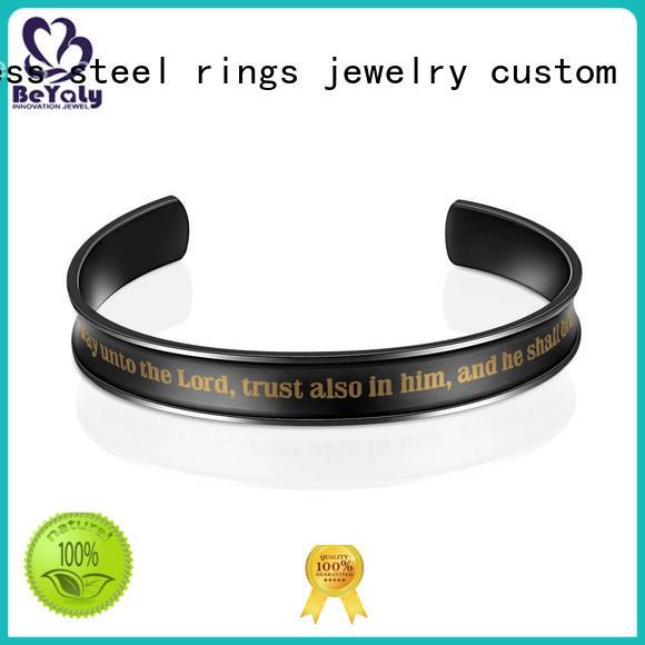 logo sterling silver cuff bracelet design for business gift BEYALY