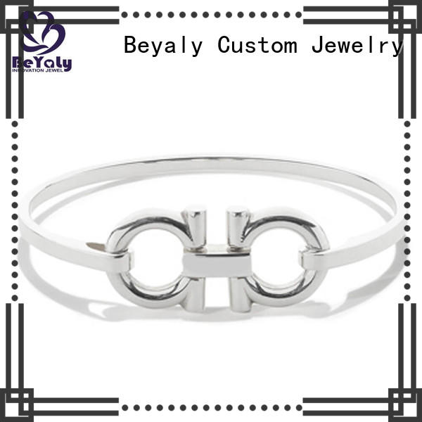 BEYALY slap sterling cuff bracelets for business for anniversary celebration