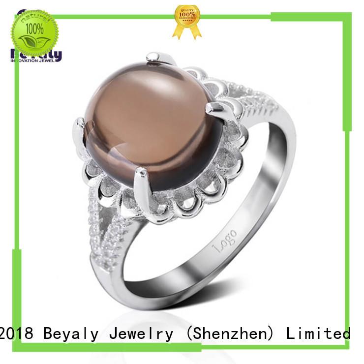 BEYALY diamond stone jewellery online brown for men