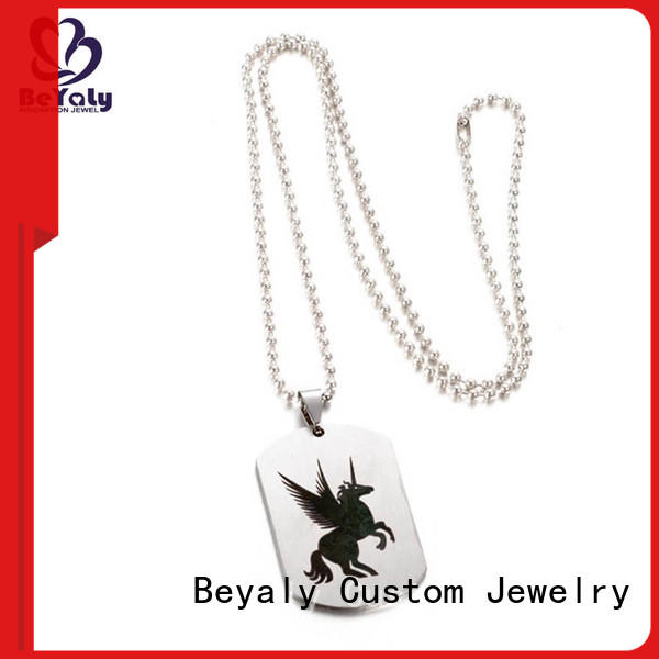BEYALY Wholesale sterling silver circle pendant necklace manufacturers for girls