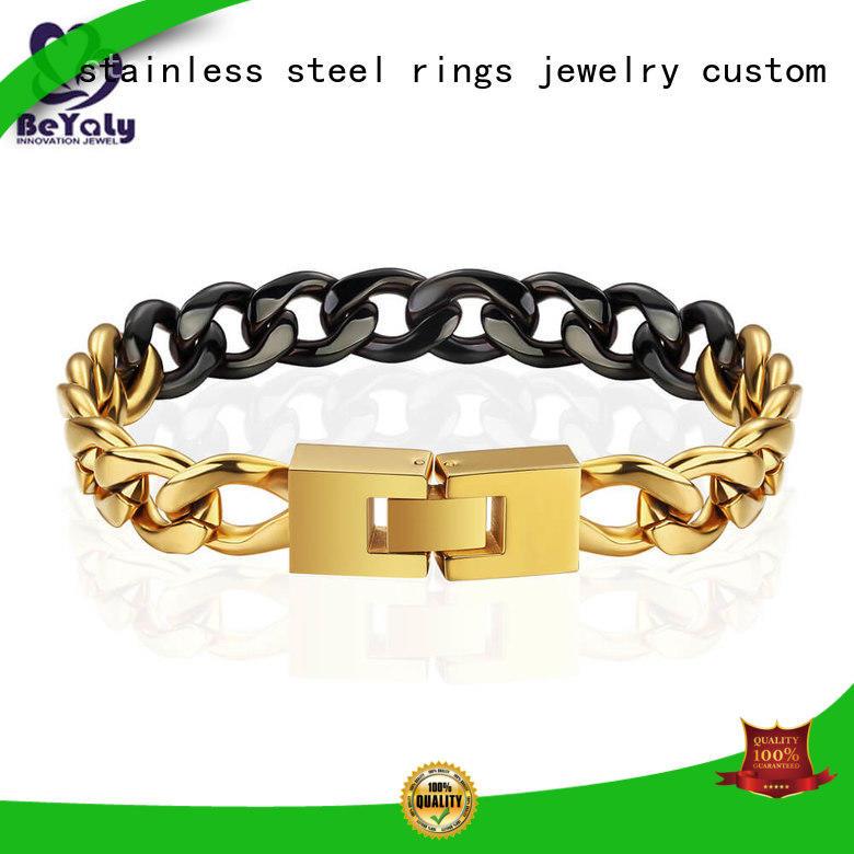 initial cuff bracelet zirconia chain BEYALY Brand company