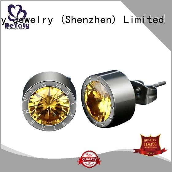 BEYALY gemstone cubic zirconia earrings factory for advertising promotion