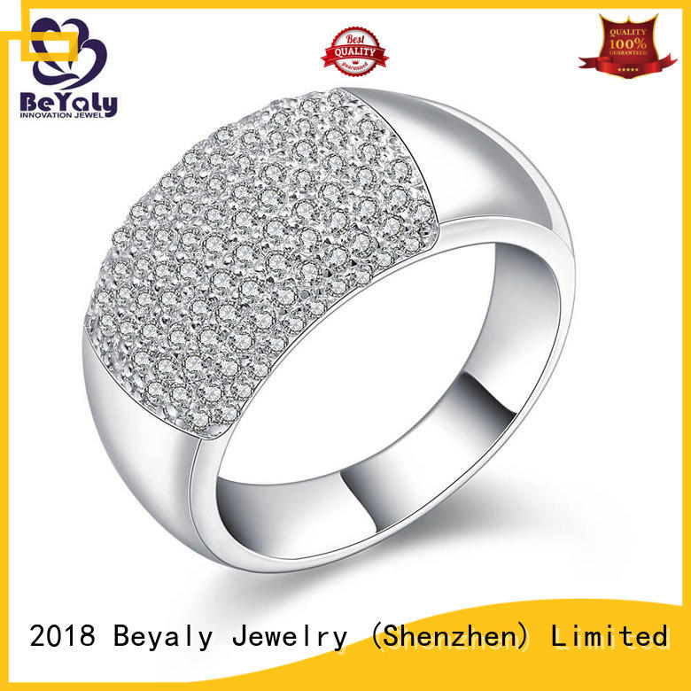 bulk zircon rings sterling silver band rings BEYALY manufacture