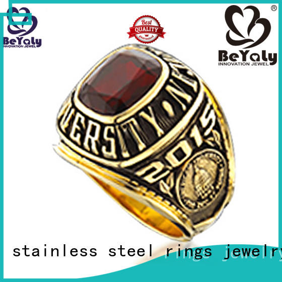red painting OEM mens class rings high school BEYALY