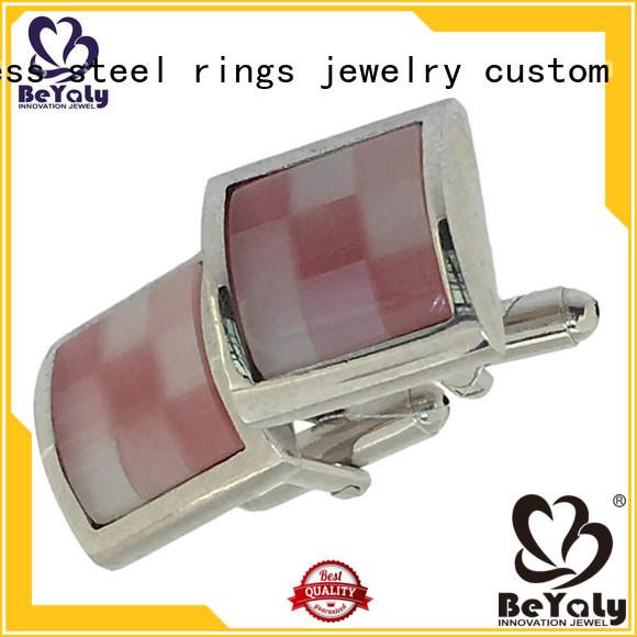 gold wedding cufflinks colorful links stripe BEYALY Brand