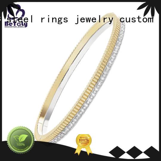 Quality BEYALY Brand initial cuff bracelet logo simple