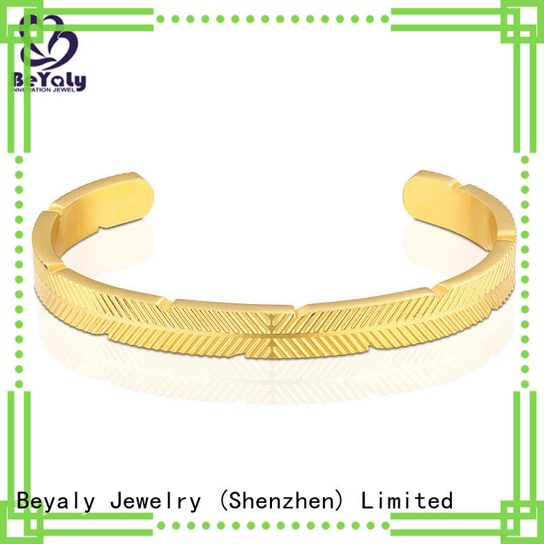 Wholesale gold band bracelet with circles zircon for anniversary celebration