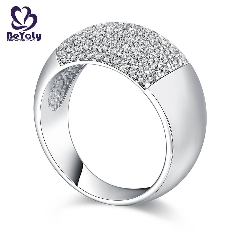 High-quality platinum diamond band ring numerals Supply for men-2