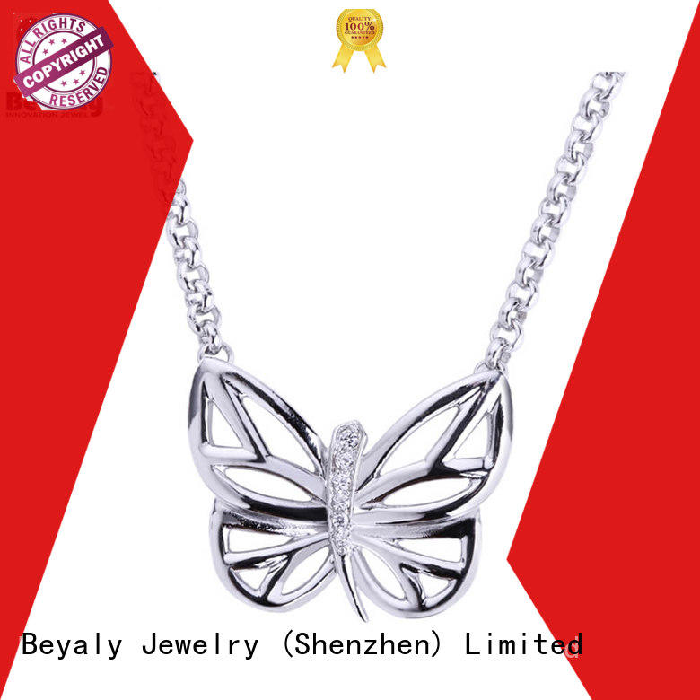 BEYALY stylish sterling silver circle pendant necklace Supply for wife