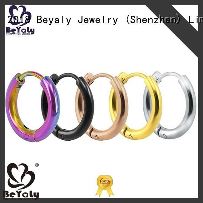 BEYALY big mini hoop earring design for advertising promotion