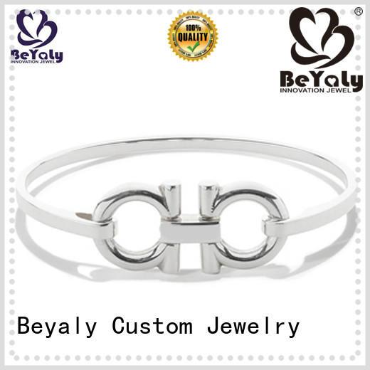 Custom silver hoop bracelet chain for advertising promotion