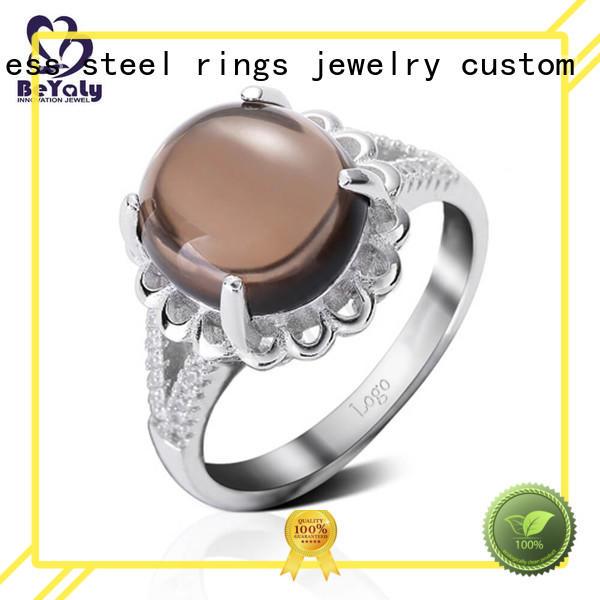 sterling silver band rings zircon silver Warranty BEYALY