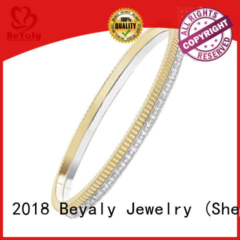 BEYALY aaa silver cuff bracelet design for advertising promotion
