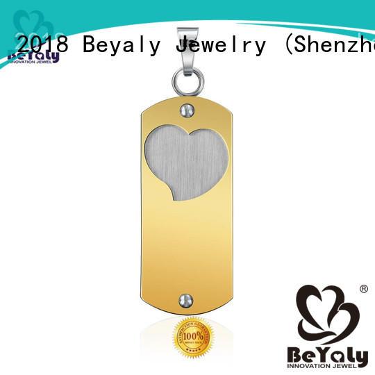 best sterling silver clover pendant design for women BEYALY