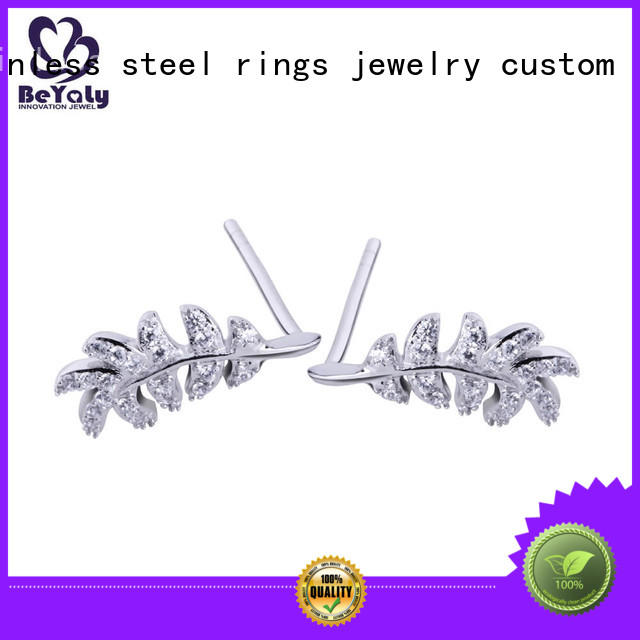 BEYALY Brand aaa pave mini diamond hoop earrings flower