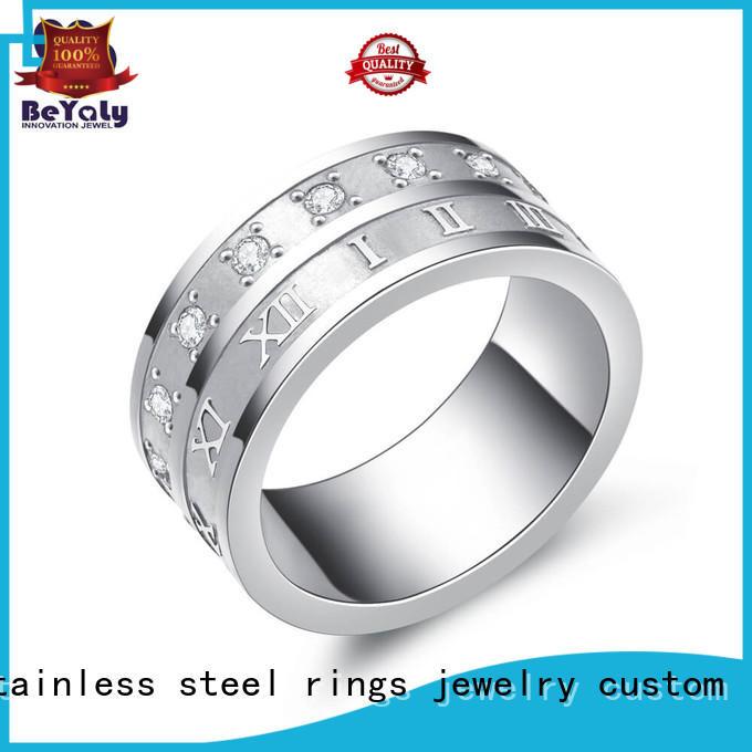 BEYALY diamond platinum diamond rings silver for daily life