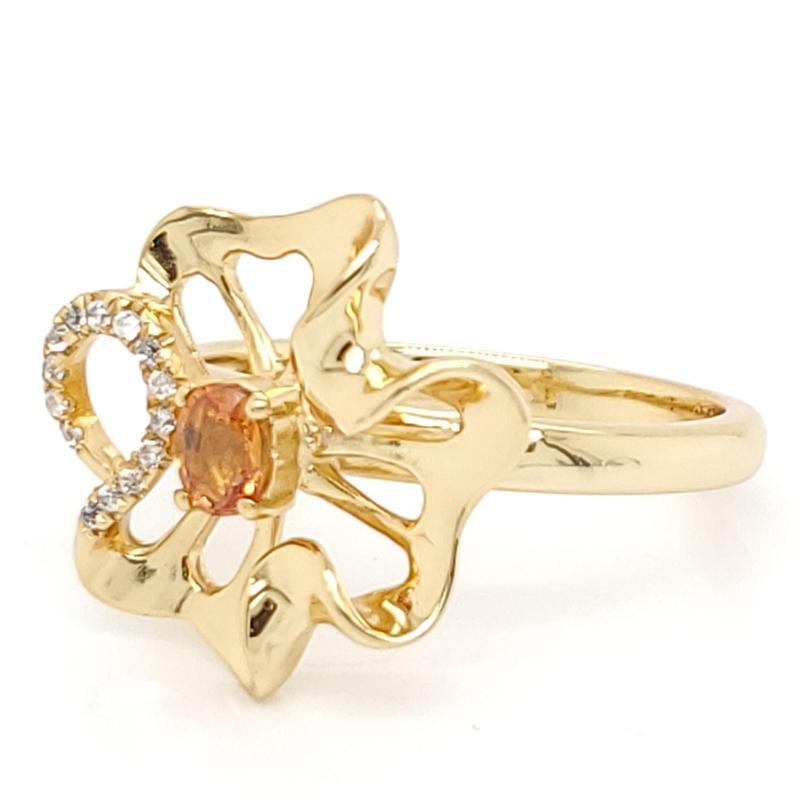 24k gold plating flower shape elegant ring