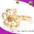 BEYALY plating gold inital ring Supply for daily life