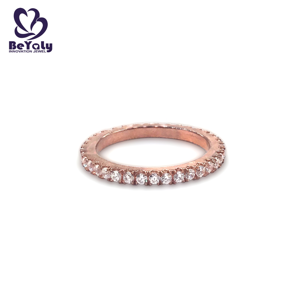 product-Full pave setting AAA cubic zircon rose gold ring-BEYALY-img