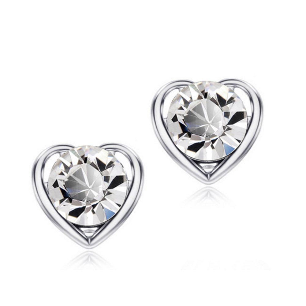 special cz earring silver sets for advertising promotion-2