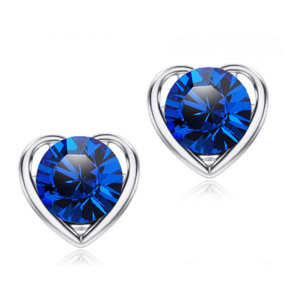 special cz earring silver sets for advertising promotion-3