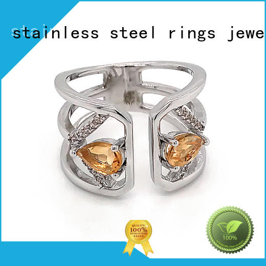BEYALY brown gold inital ring for business for women