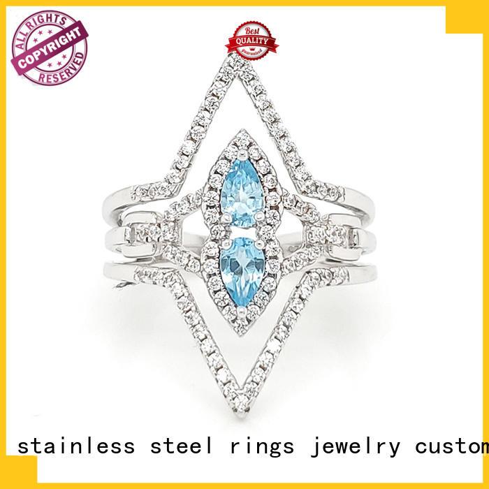 New platinum ring zircon for business for women