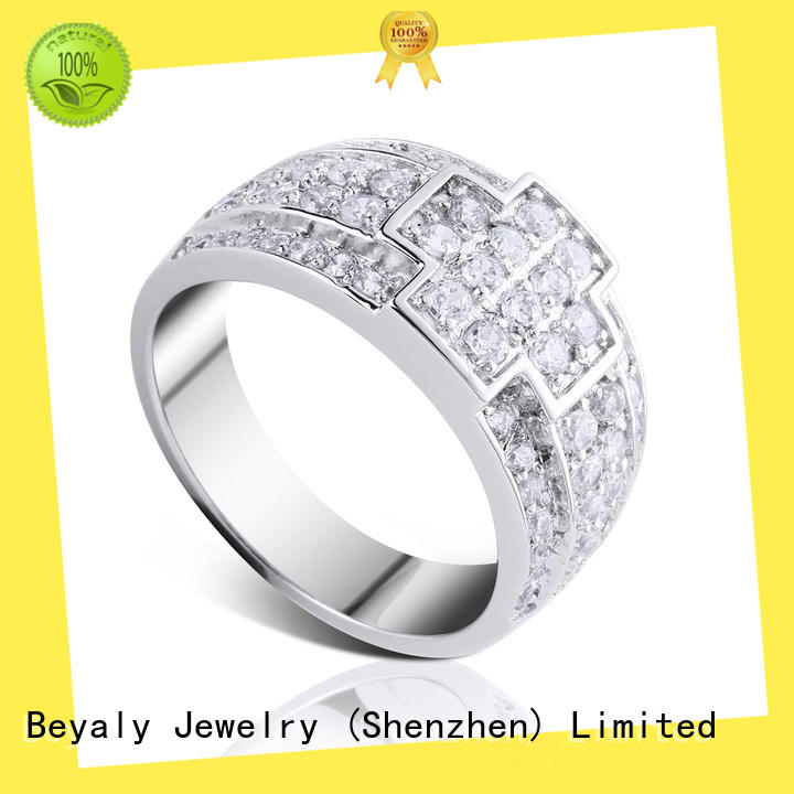 BEYALY zircon initial ring online for daily life
