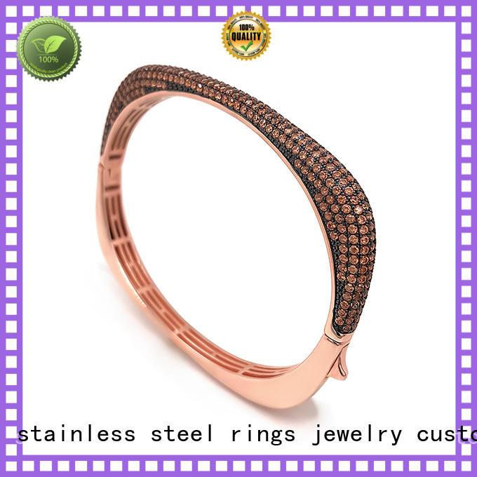 BEYALY logo cubic zirconia bangle bracelet Supply for ceremony